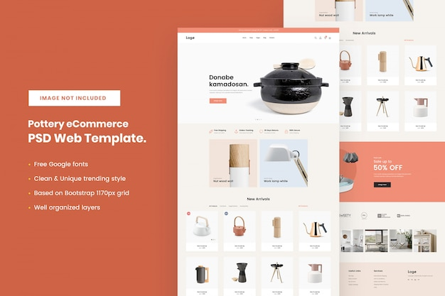 Pottery ecommerce web template