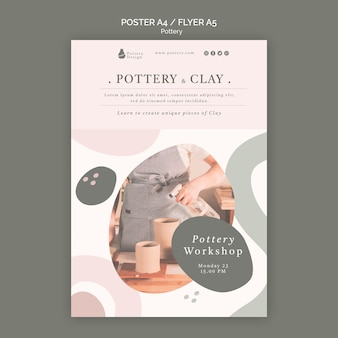 Pottery flyer template