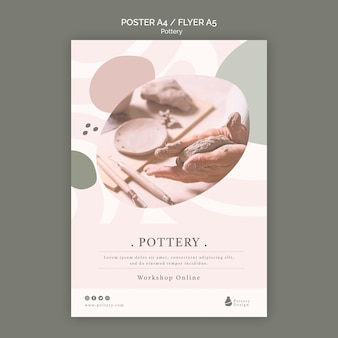 Pottery poster template
