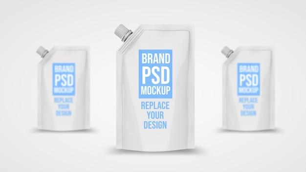 Мешок 3d рендеринга дизайн макета
