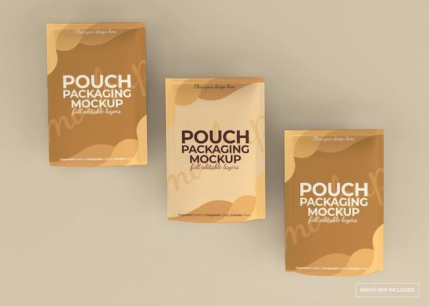 절연 파우치 포장 모형 디자인