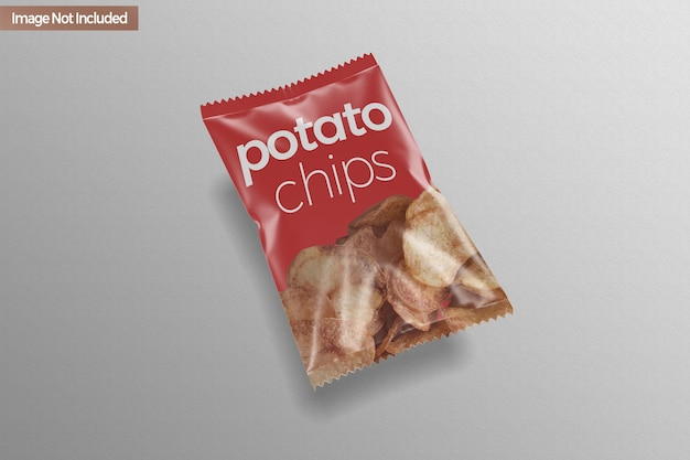 Pouch snack chip mockup