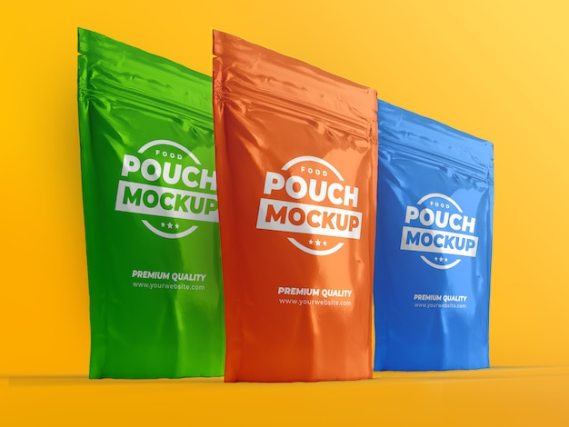 Pouch snack sachet bag packaging mock-up