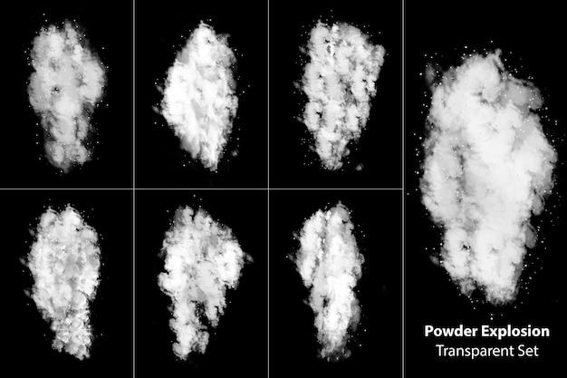 粉塵爆発煙透明セット