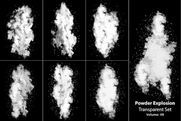 Powder explosion smoke transparent set
