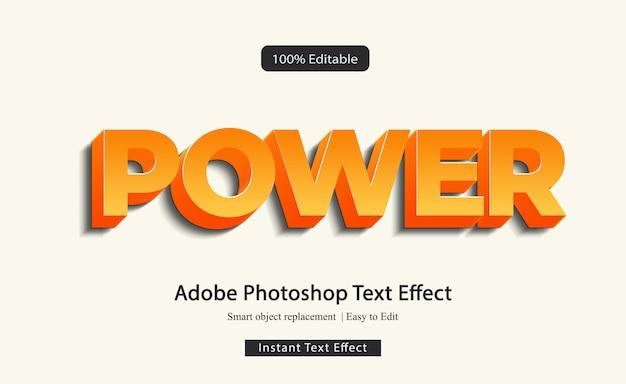 Power 3d всплывающее текстовое искусство