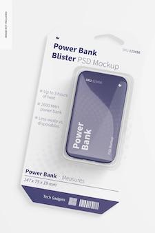Power bank blister mockup, top view
