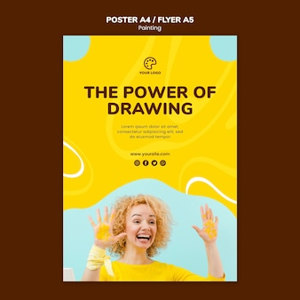 The power of drawing painting template