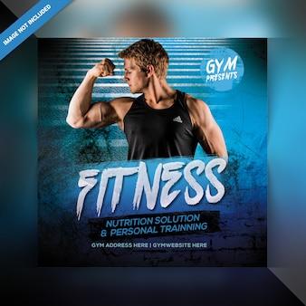 Power fitness banner template