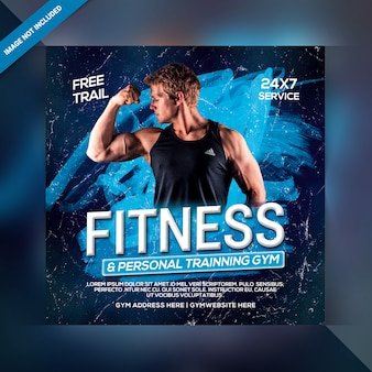 Power fitness banner template