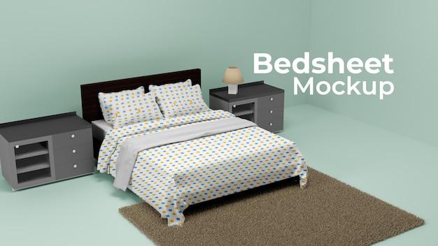 프리미엄 침대 시트 프로토 타입 psd 디자인