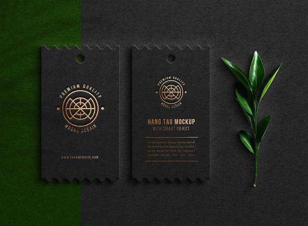 Premium business card logo mockup