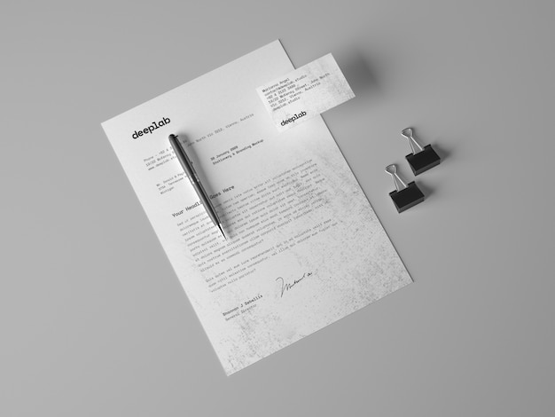 Premium business cards and pen