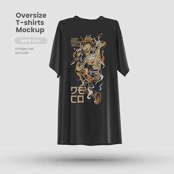 プレミアムカスタマイズ可能なtシャツpsdモックアップ背面図