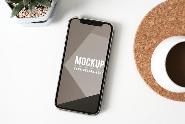 Премиум-макет экрана мобильного телефона
