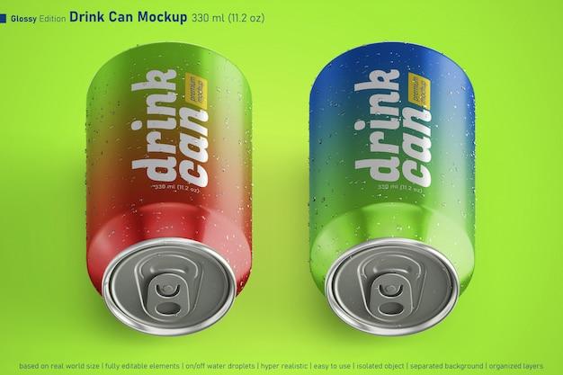 두 가지 금속 음료수 음료의 프리미엄 템플릿 디자인 템플릿은 일정한 크기로 할 수 있습니다.