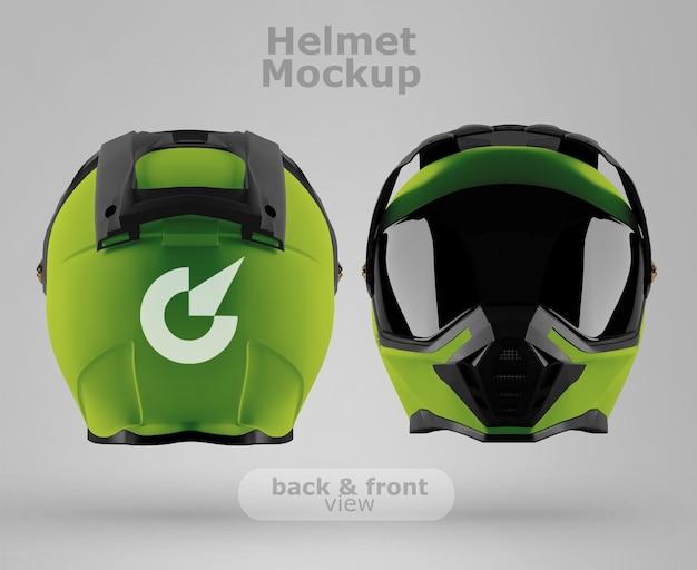 프리미엄 오토바이 헬멧 모형 후면 및 전면