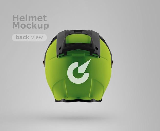 프리미엄 오토바이 헬멧 모형 뒷모습