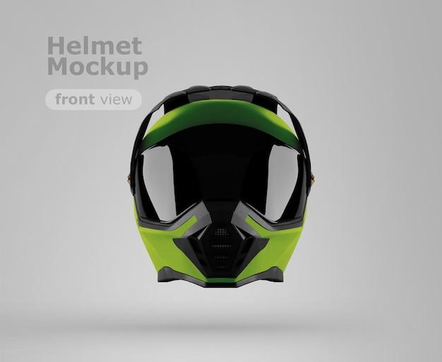 프리미엄 오토바이 헬멧 목업 정면도