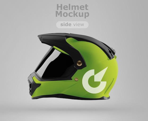 프리미엄 오토바이 헬멧 모형 측면보기