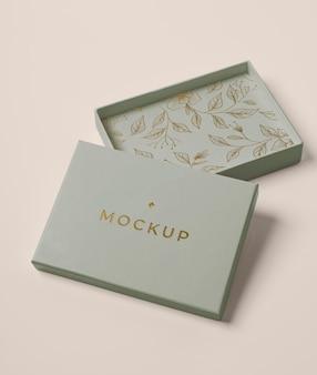 Premium packaging mock-up arrangement