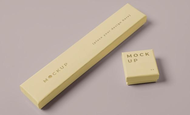 Composizione mock-up di packaging premium