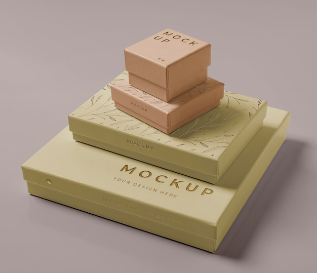 Premium packaging mock-up composition