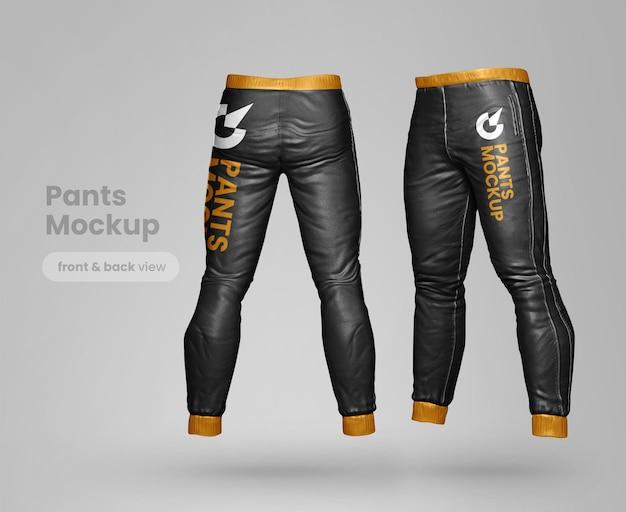Premium pants mockup back and side view