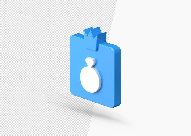 Премиум продукт или значок короля предмета 3d значок