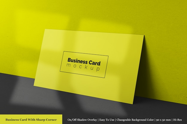 Premium professional horizontal corporate business card  mock up templates