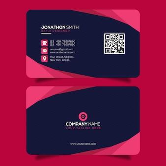 Шаблон креативной визитки premium psd