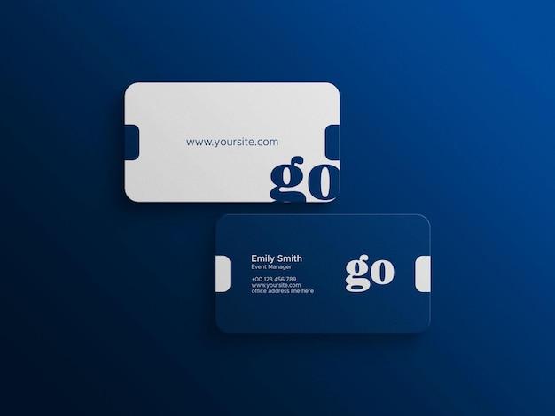 Файл макета фотошопа для визитных карточек премиум-класса