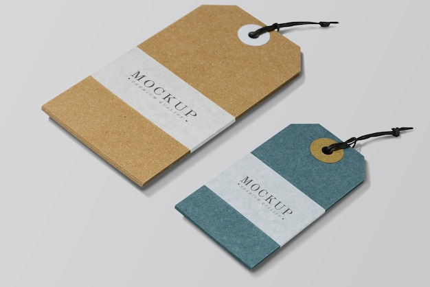 Premium quality clothing label mockup