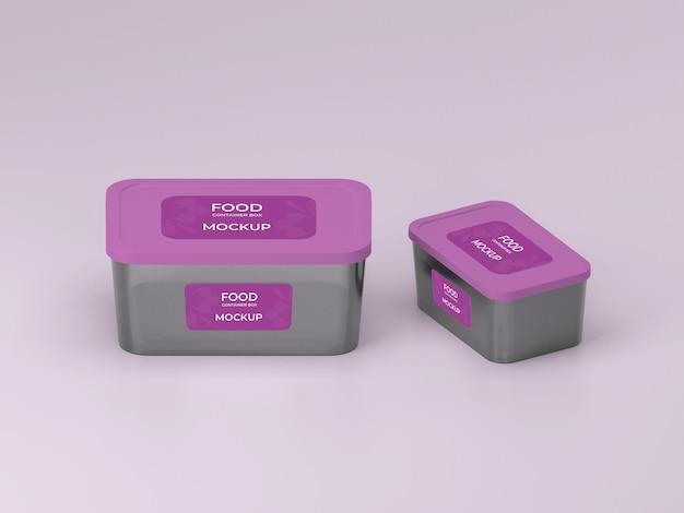 Premium quality customizable food container box mockup design