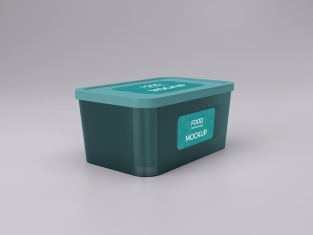 Premium quality customizable food container mockup design side view