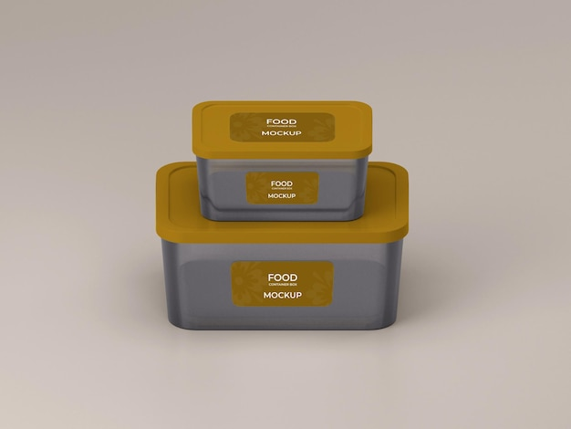Premium quality customizable two food container mockup design