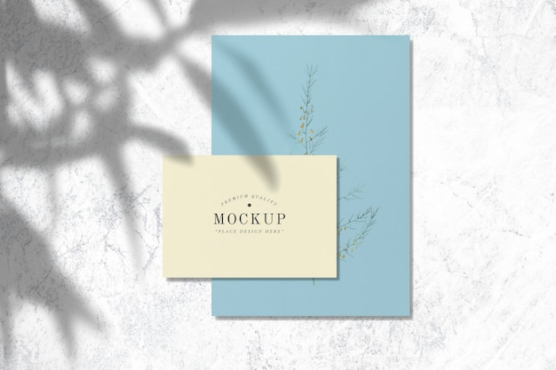 Premium quality design card mockups