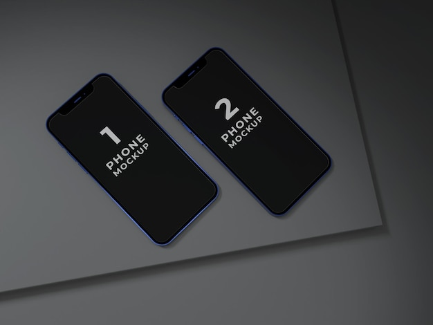 프리미엄 품질의 스마트폰 목업 디자인