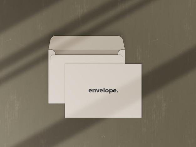Премиум реалистичный макет конверта