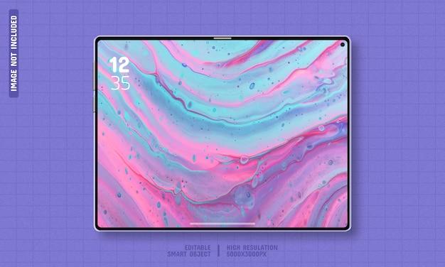Premium tablet device screen editable mockup template