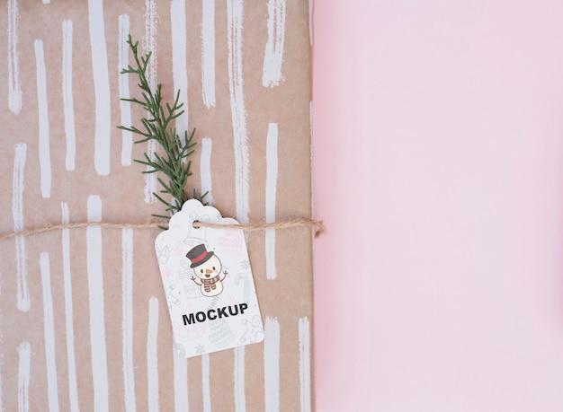 Современный макет коробки с концепцией рождества Бесплатные Psd
