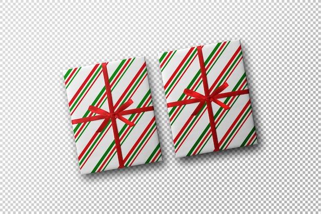 크리스마스 컨셉이 있는 선물 상자 모형