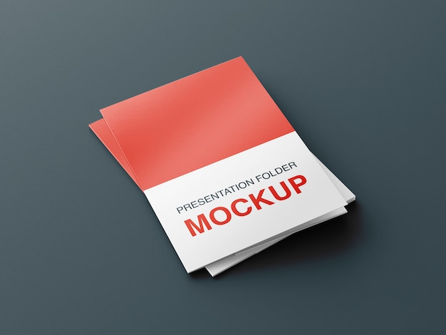 Presentation or bifold brochure mockup design