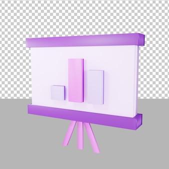 Презентация данных 3d иллюстрации бизнес