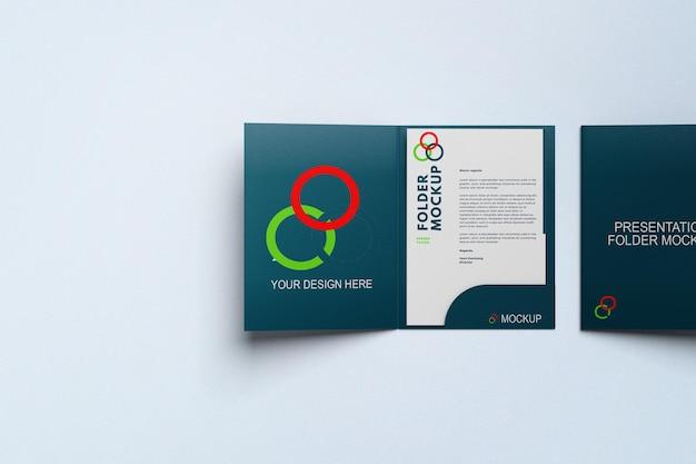 Presentation folder mockup