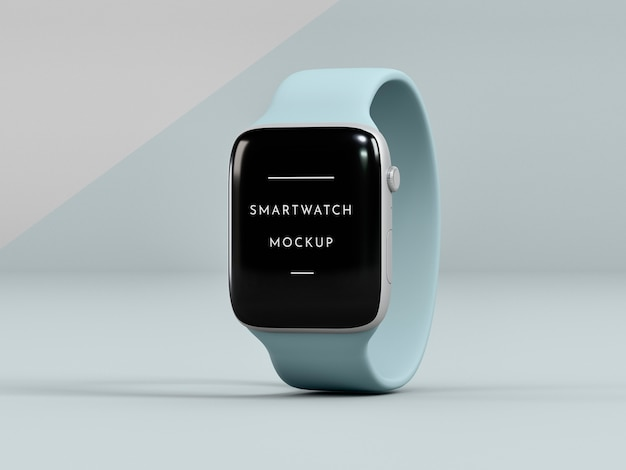 Presentation for smartwatch with screen mock-up