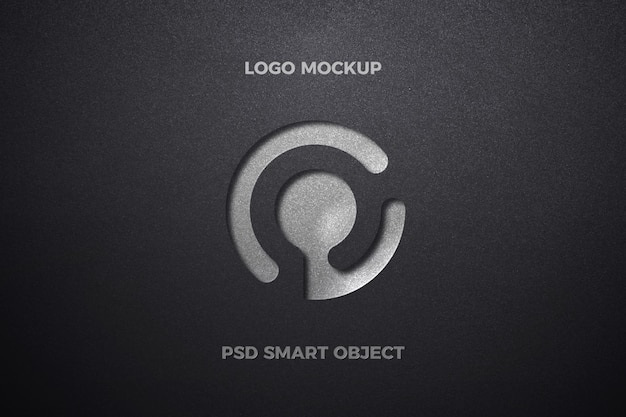 Pressed logo mockup on thick paper
