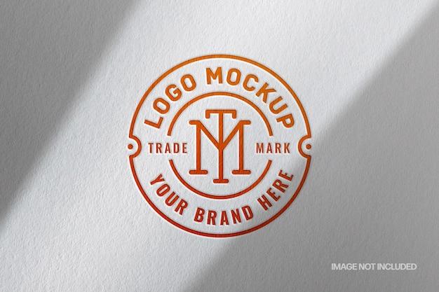 Pressed paper logo mockup