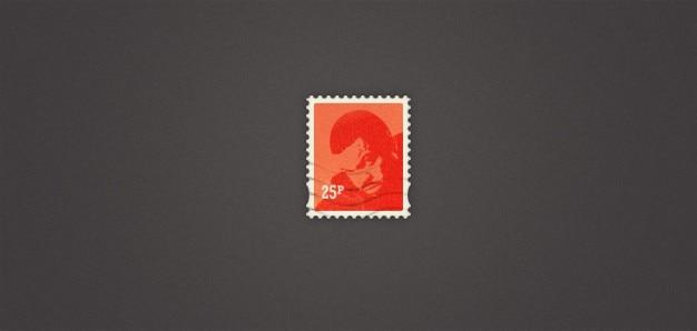 Pretty little почтовой марки (psd)
