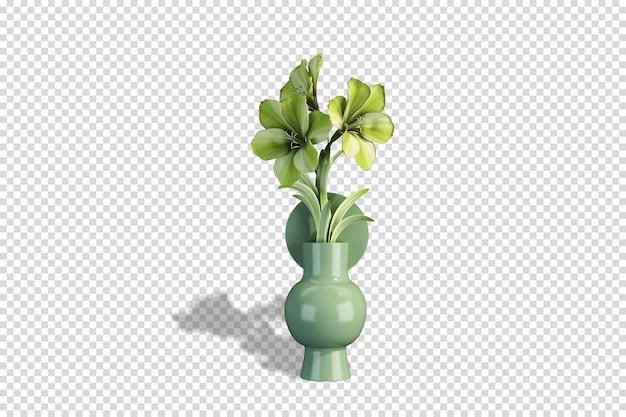 3d 렌더링에 꽃과 예쁜 꽃병